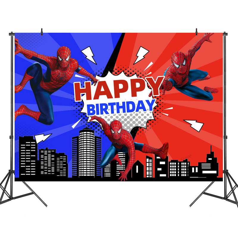 Disney Spiderman Partei Hintergrund kinder Party Dekoration Thema Liefert Anordnung Hintergrund Vorhang Hintergrund Stand
