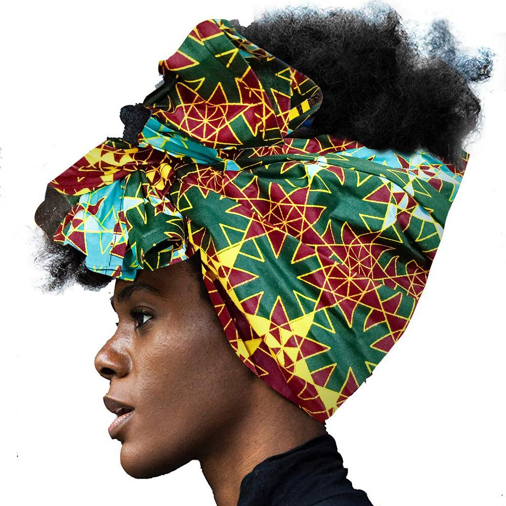 African Headwrap For Women Hair Accessories Scarf Wrapped Head Turban Ladies Hair Accessories Scarf Hat Headwrap Long Tail Cap