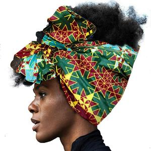 african Headwrap for Women hair accessories Scarf Wrapped Head Turban Ladies Hair Accessories Scarf Hat Headwrap Long Tail Cap(China)