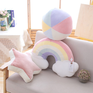 Image 4 - תינוק צבעוני Creative כרית ילדי חדר קישוט מפרץ חלון כרית קשת מעטפת כוכב כדור Cartoon ילדים נוחות כרית