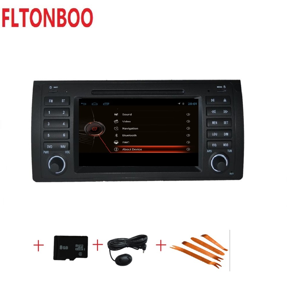 7 inch 2 din car dvd player for E39 X5 E39 1997 2007 with Bluetooth RDS