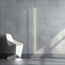 Lámpara de pie moderna minimalista nórdica, luz Led con soporte para dormitorio, decoración para sala de estar, luces de suelo de madera