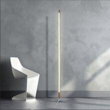 Nordic minimalista e moderno lâmpada de assoalho criativo local personalidade led suporte luz quarto sala estar decoração luzes piso madeira