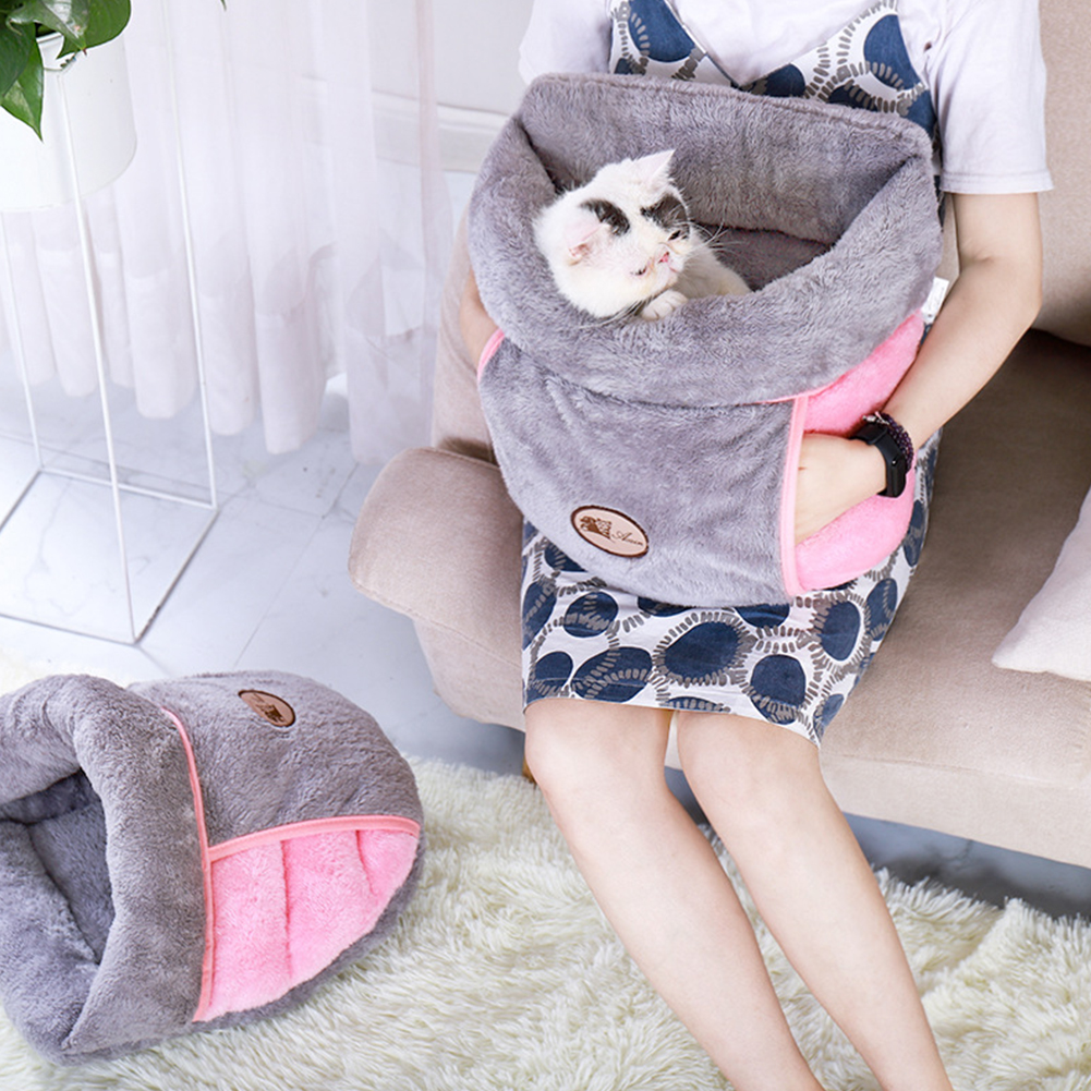 Warm Cat Bed Cave House Slippers Beds Dog Kitten Mat Nest Kennel Soft Sofa Sleeping Bag Mats Cushion For Cats Dogs Supplies A30
