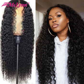 Deep Wave Wig Lace Front Human Hair Wigs Brazilian Remy Human Hair Wigs For Women Pre Plucked T Part Wig Can Be Dyed Mslynn Hair