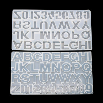 Formy silikonowe DIY Crystal Drop klej alfanumeryczny formy wysokiej lustro technologii 26 alfanumerycznych formy 0-9 formy rękodzieła formy tanie i dobre opinie CN (pochodzenie) DJMJ001 silica gel 36*19*1cm
