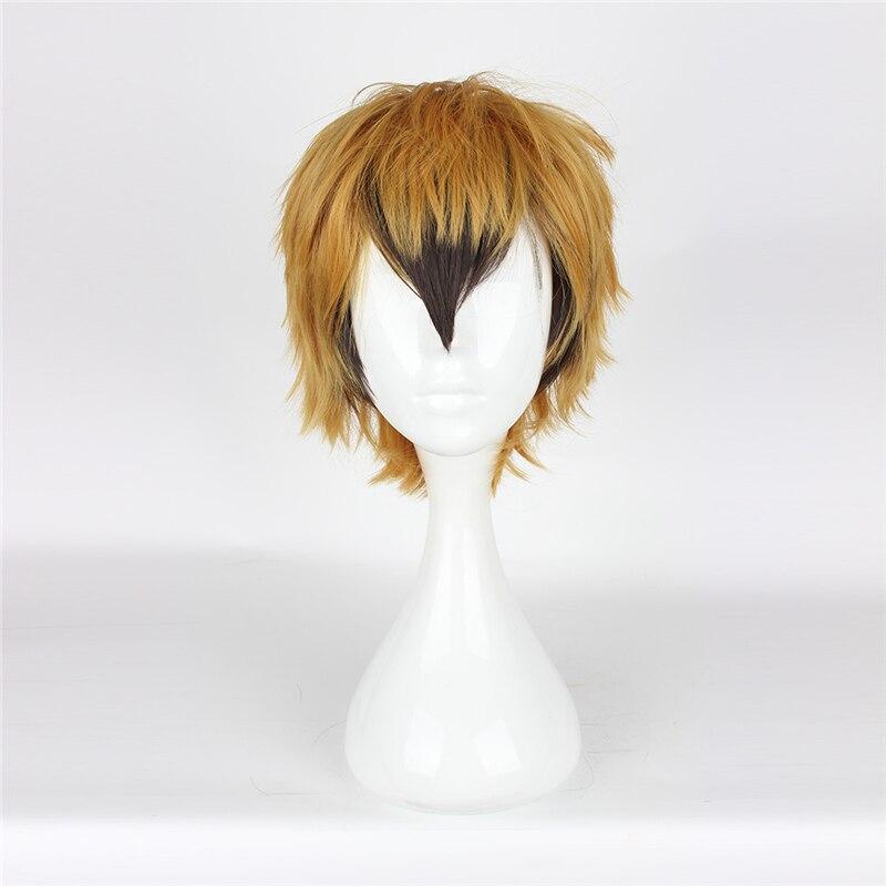 Anime Servamp Cosplay Wig Hyde Lawless Golden Black Gradient Heat Resistant Synthetic Wigs Halloween Party Unisex Wig Perucas