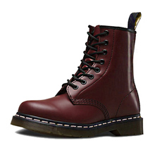 Vastwave Couple Doc British Vintage Classic Unisex Women Leather Boots Martens Shoes