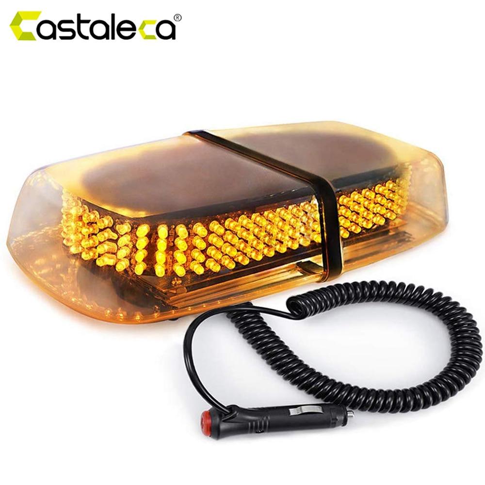 Castaleca 1X 240 LED Roof Top Strobe Police Light Truck Car Vehicle Emergency Hazard Warning Beacon Snow Plow Safety Flash Lamp