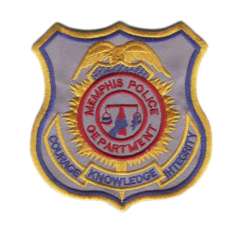 High Quality Custom Police Patches Embroidery Patches For Garment Iron On Backing Metallic Thread Patch