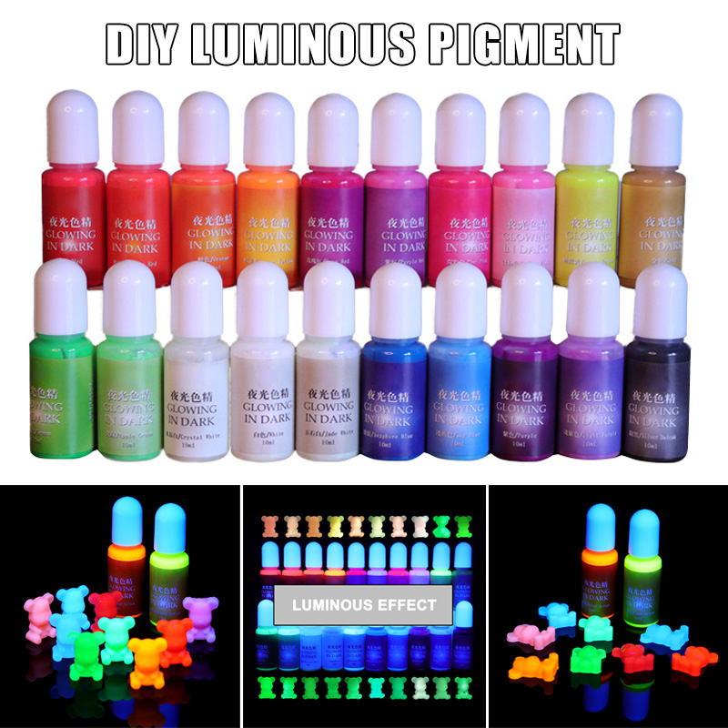 Glowing In Dark High Concentration Epoxy Pigment DIY Mold Making Uv Resin Gel Curing Quick-drying Non-toxic Transparent   J55