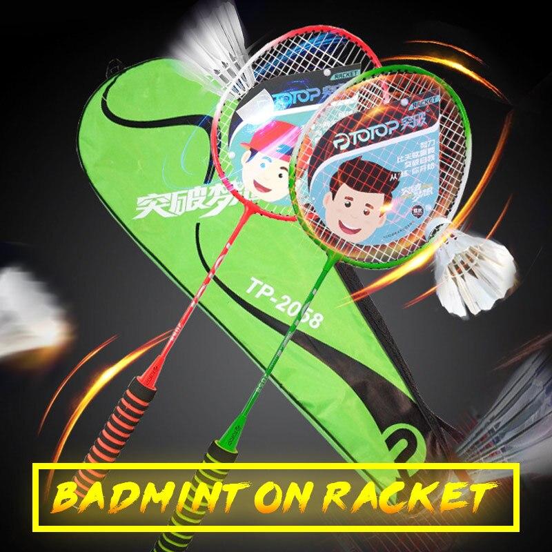 Sports Racket Lightweight Professional Ferroalloy Nylon Badminton Game Sporting Goods Badminton Racket Movement School Toys