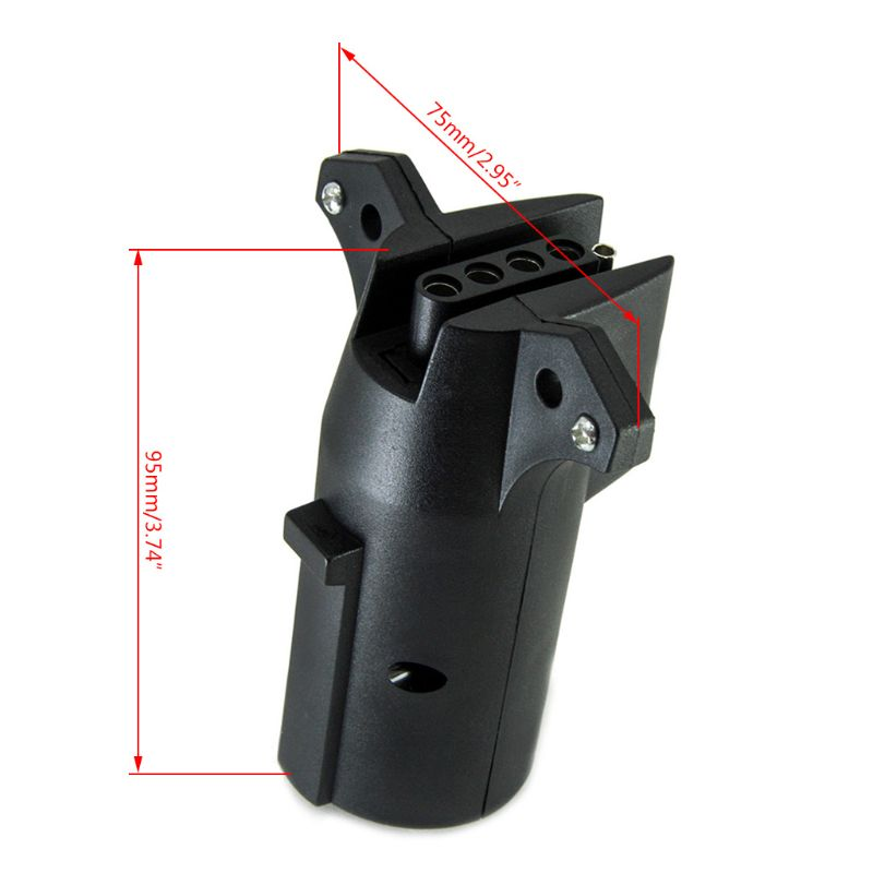 Купить с кэшбэком 12V 7 Way Round to 5 Way Round Car Plug Connector Plastic 7 Pin Socket Plugs For Trailers RVs