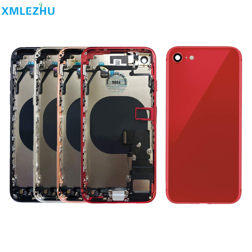 5Pc  For iphone 8 8 Plus with Flex Cable Back Housing Full Assembly Battery Cover Door Rear Middle Frame Chassis