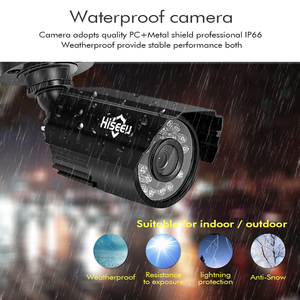 Image 2 - Hiseeu CCTV camera System 4CH 720P/1080P AHD security Camera DVR Kit CCTV waterproof Outdoor home Video Surveillance System HDD