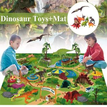 Kids Play Mat Dinosaur Carpet For Kids Toys Children Educational Mat Indoor Toys Playmat Baby Playing Mats with 9 Dinosaur Model