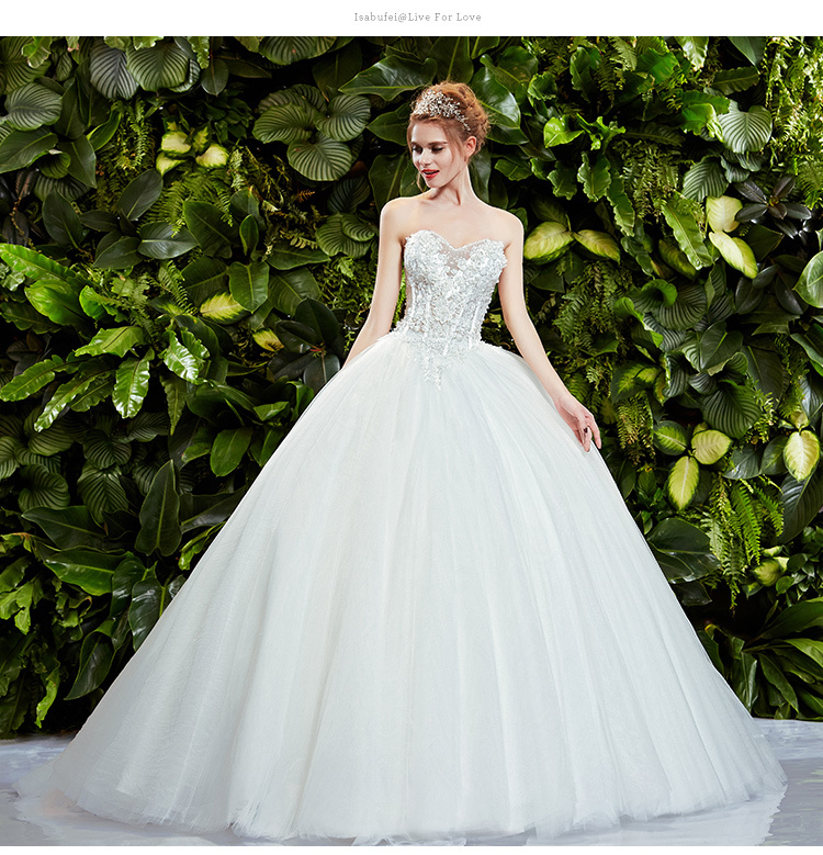 Bridal Ball Gown Beading Romantic New Fashionable Sexy Sweetheart Vestido De Novia Casamento Wedding Dress 2014 Free Shipping