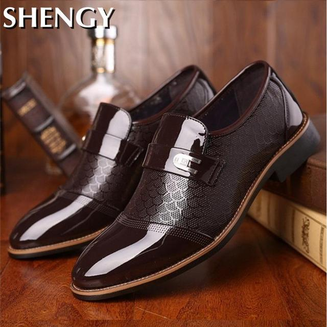 Genuiner Leather Embossing Classic Business Shoes 4