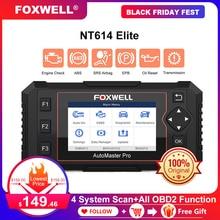 Сканер FOXWELL NT614 Elite OBD OBD2, четыре системы, для сброса нефтяных услуг, Автомобильный сканер OBDII, профессиональный диагностический инструмент для автомобиля