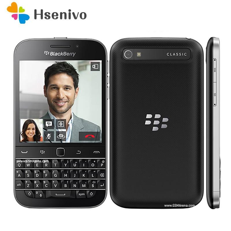 Unlocked Original BlackBerry Classic Blackberry Q20 Phone Dual Core 2GB RAM 16GB ROM 8MP Camera Free Shipping