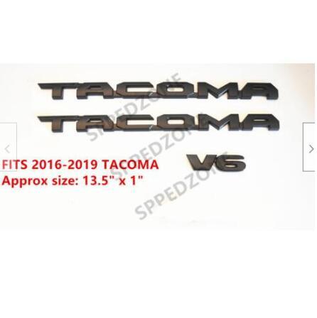 For 2016-2018 Tacoma Tag MATTE Black Door Emblem Decal Badge Nameplate