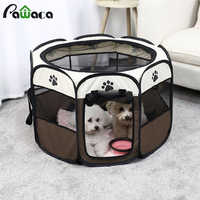 Octagonal Pet Cage Dog Removable And Washable Folding Outdoor Tent Oxford Cloth Cat Cage Kennel Fence Waterproof Resistant Tent