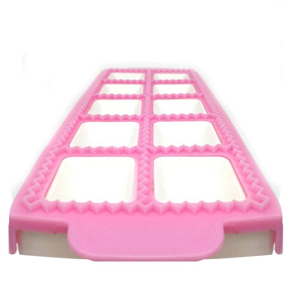 10-Hole Plastic Ravioli/Pierogi/Dumpling Maker Wrapper Empanada Press Mold Dough Cutter Pie Ravioli Dumpling Mould