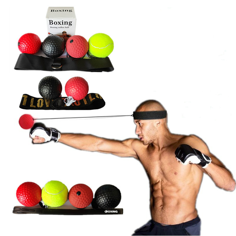 Kick Boxing Reflex Ball Head Band Fighting Speed Training Punch Ball Muay Tai MMA Exercise Equipment Sports Accessories