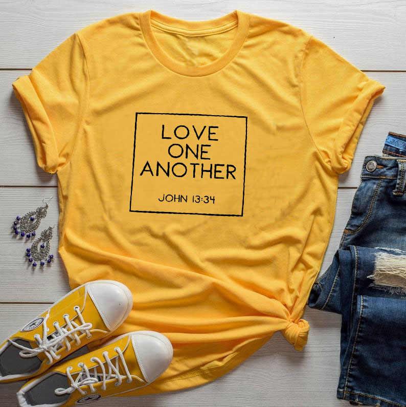 愛相互 Tシャツクリスチャン宗教女性 Tシャツイエスグレースシャツ綿カジュアル Tシャツガールバレンタインギフト船トップス