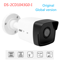 Original HK Global Version 4MP Fixed Bullet Network Camera DS-2CD1043G0-I IR Range 30M fit for hikvision nvr systems