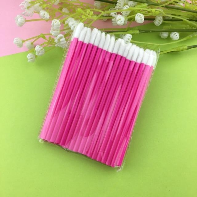 50 Pcs Disposable Lip Brush Eyelash Makeups Brushes Lash Extension Mascara Applicator Lipstick Wands Sets Cosmetic Makeup Tools 3