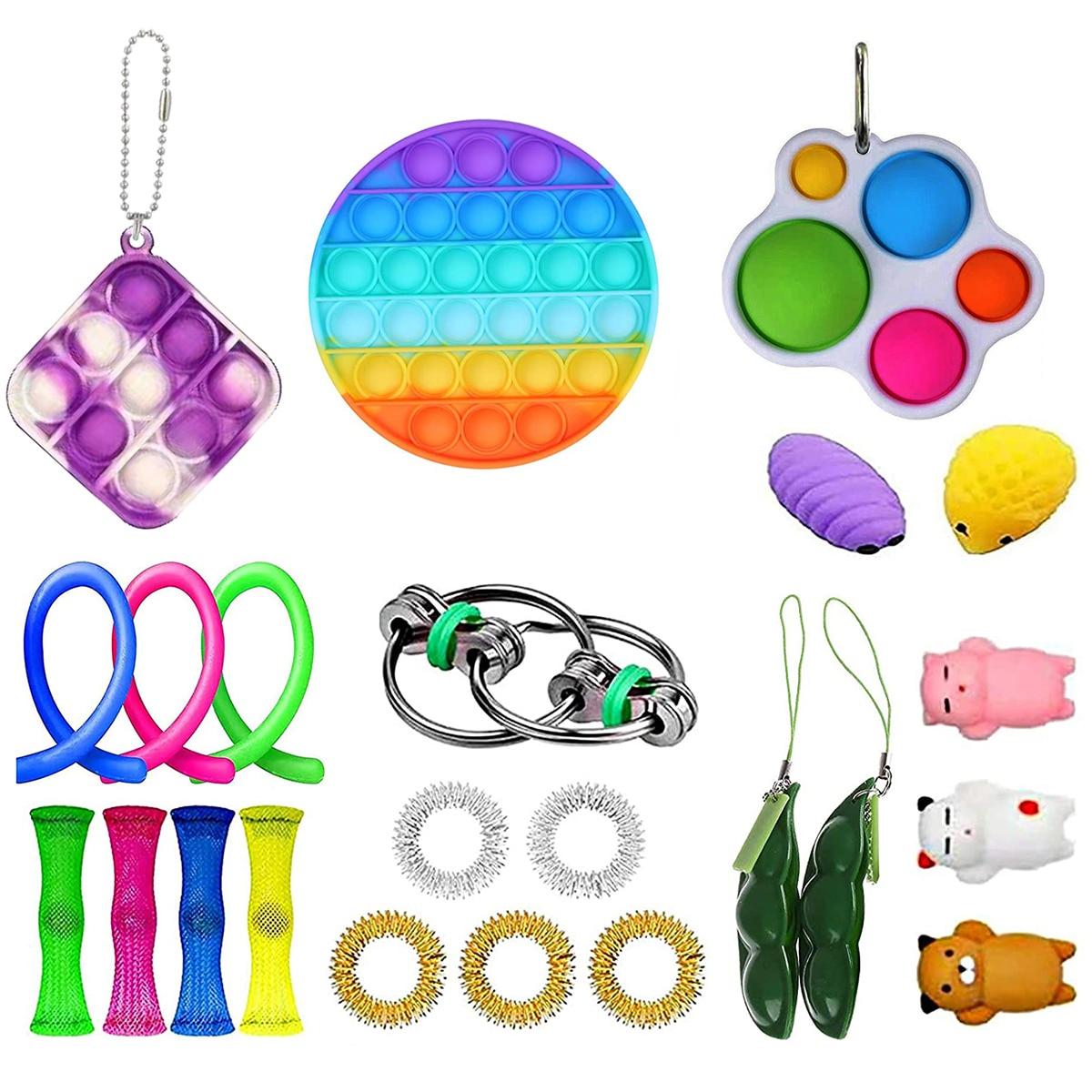 Toys-Set Fidget-Toys Decompression-Sensory Fun Squeeze Bubble Children's Cartoon Board-Game img5