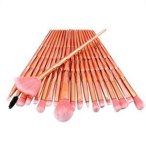 Image 5 - 20PCs Del Diamante di Trucco Pennelli Set Polvere Prodotti Di Base Blush, Fard Blending Ombretto Lip Cosmetic Beauty Make Up Brush Pincel Maquiagem