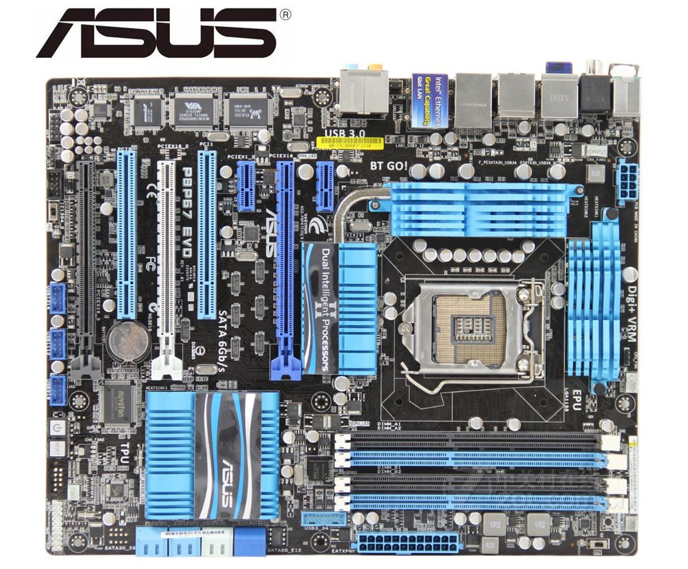 ASUS P8P67 EVO Original Motherboard  DDR3 LGA 1155 USB2.0 USB3.0 32GB P67 USED Desktop Motherboard