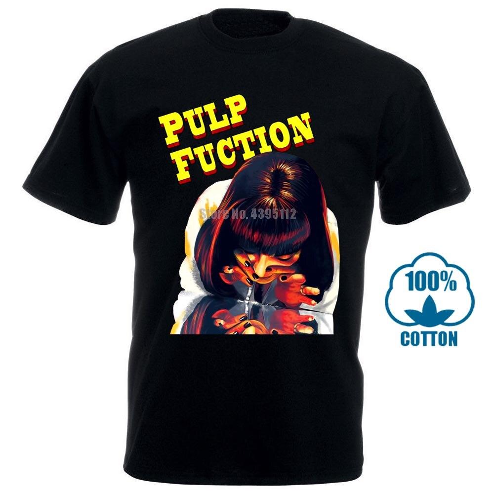 Pulp Fiction Poster do Filme Uma Thurman V4 T Camisa Branca Todos Os Tamanhos S 4Xl