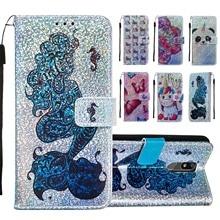 Luxe Bling Wallet Flip PU Leather Cases Voor Xiaomi Redmi 7A K20 K20 Pro Eenhoorn Patroon Beschermende Phone Bag Cover coque Geschenken