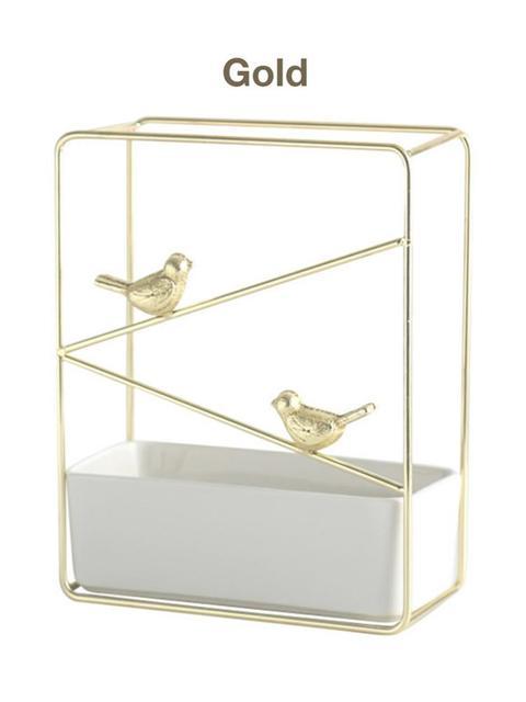 اكسسوارات العصافير المطلية بالذهب او الفضية ديكور و اكسسوارات
