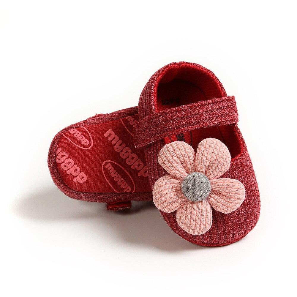 Sapatos de bebê recém-nascido meninas bonito rosa
