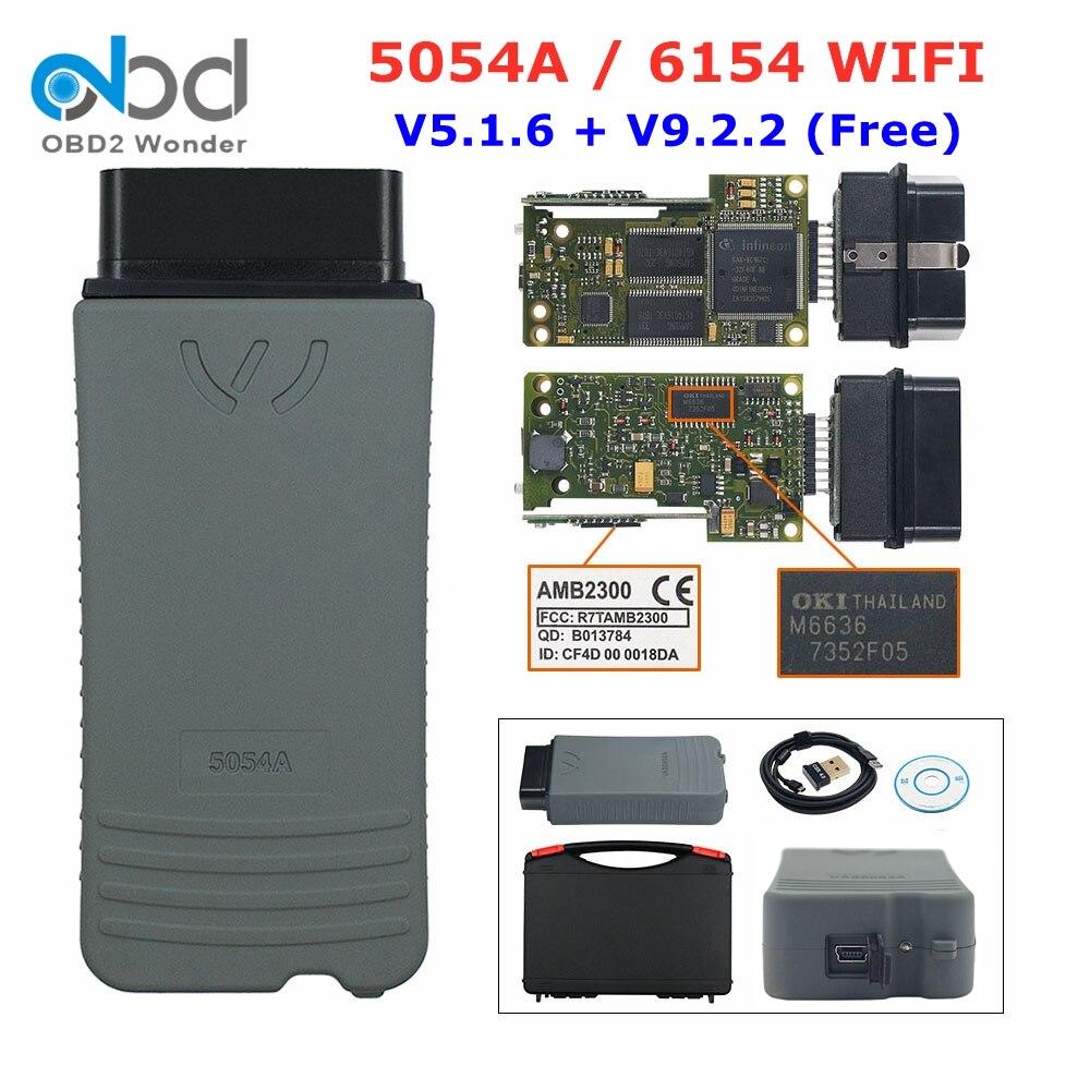 Диагностический инструмент OBD2 6154 WIFI оригинальный 5054 полный OKI V5.1.6 Bluetooth AMB2300 5054 5054A 6154 сканер кода автомобиля OBDII сканер