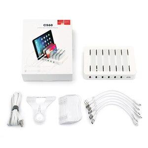 Image 5 - Soopii מהיר תשלום 3.0 60W/12A 6 יציאת USB תחנת טעינה עבור מספר מכשירים, dock תחנת עם 6 כבלים כלולים