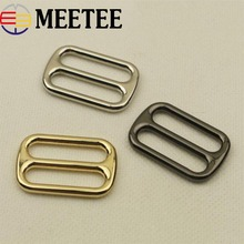 5/10pcs 32mm Metal Buckle for Bag Backpack Webbing Strap Buckles Adjustable Garment  Clasps DIY Leather Craft Sewing Accessories