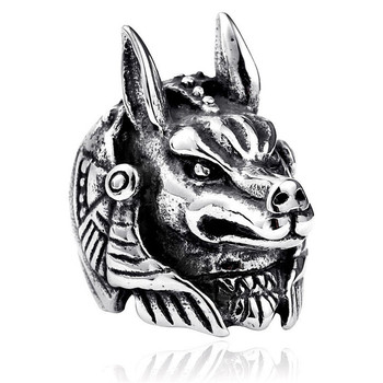 Ring For Men Girls Women Adjustable Gold Silver Black Snake Ferocious Animal Retro Punk Exaggerated Sphinx Egyptian Pharaoh 1