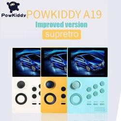POWKIDDY A19 باندورا صندوق أندرويد supretro وحدة تحكم بجهاز لعب محمول IPS شاشة مدمجة 3000 + ألعاب 30 ألعاب ثلاثية الأبعاد واي فاي تنزيل