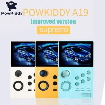 POWKIDDY A19 der Pandora Box Android supretro handheld spielkonsole ips-bildschirm gebaut-in 3000  spiele 30 3D spiele WiFi download