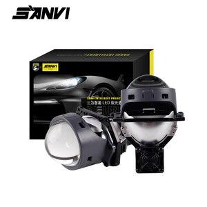 Image 1 - SANVI 2PC 3 Cal samochód Bi obiektyw LED projektora reflektor 55w 5500K Auto Ice lampa akcesoria do świateł samochodowych reflektor motocyklowy