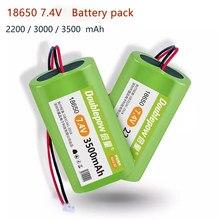 18650 7,4 V 2200mAh/3000mAh/3500mAh rechargeable battery pack megaphone Doublepow Protection Board