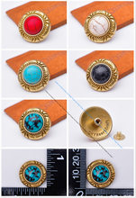 Messing Real Turquoise Steen Conchos Klinknagels Bloem Gesneden Decoratie Knoppen Voor Leer Craft Tas Zadel Riem Decor(China)
