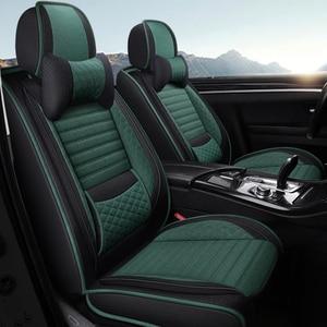 Cubierta completa de fibra de lino para asiento de coche, fundas de asientos de coche para subaru impreza forester legacy outback xv