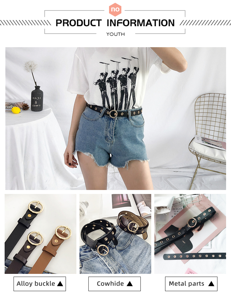 Hdabb8a961c8f48559c16c8381b3cdb18E - NO.ONEPAUL Genuine leather women belt high quality fashion casual alloy round buckle with ladies trend jeans the women for belt