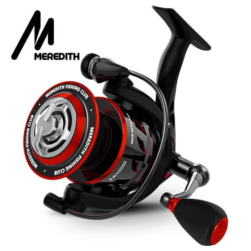 MEREDITH ZA bobine de pêche d'eau douce en Fiber de carbone glisser la bobine de rotation Max glisser 11KG bobine accessoires de pêche série 2000-4000